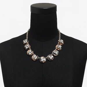 NWT J. Crew Tortoise Crystal Statement necklace
